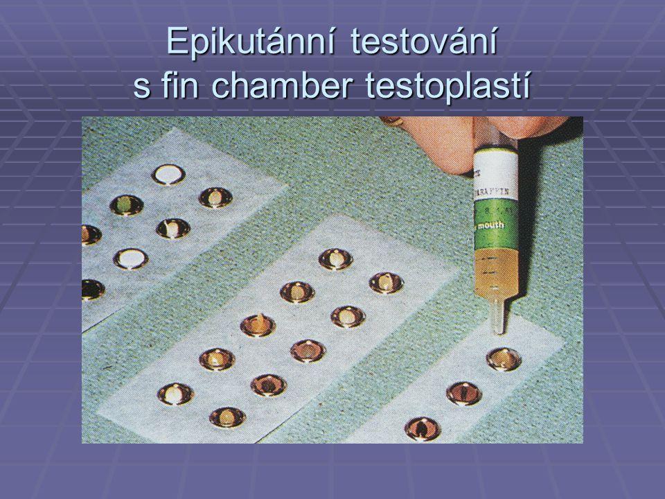Epikutánní testování s fin chamber testoplastí