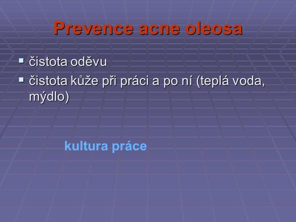 Prevence acne oleosa čistota oděvu
