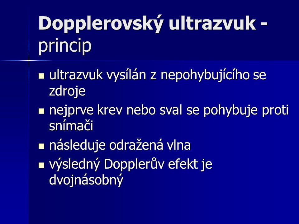Dopplerovský ultrazvuk - princip