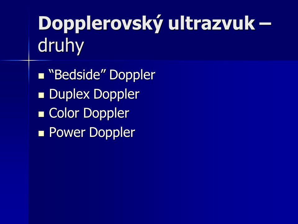 Dopplerovský ultrazvuk – druhy