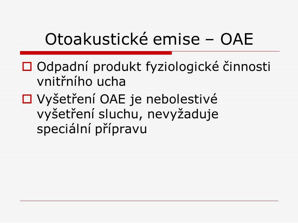 Otoakustické emise – OAE
