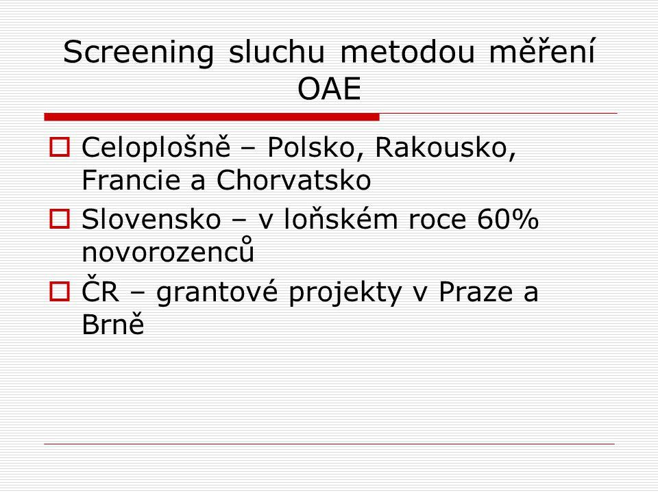 Screening sluchu metodou měření OAE