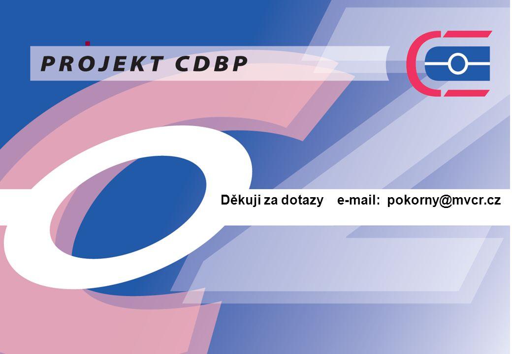 . Děkuji za dotazy e-mail: pokorny@mvcr.cz