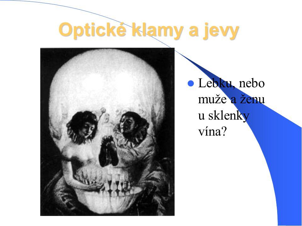 Optické klamy a jevy Lebku, nebo muže a ženu u sklenky vína