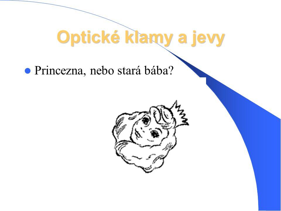 Optické klamy a jevy Princezna, nebo stará bába