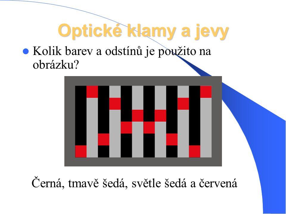 Optické klamy a jevy Kolik barev a odstínů je použito na obrázku