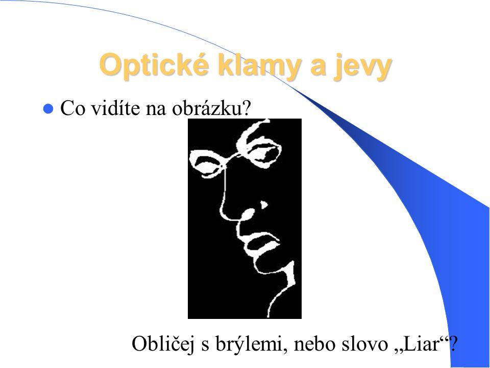 Optické klamy a jevy Co vidíte na obrázku