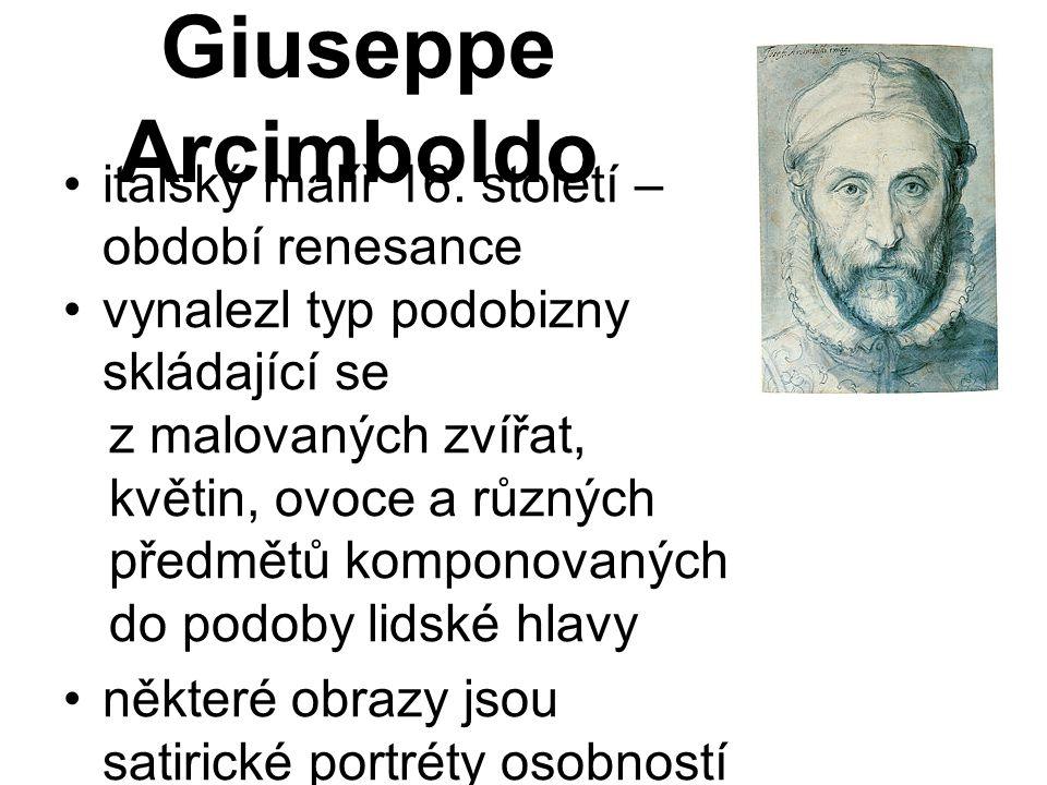 Giuseppe Arcimboldo italský malíř 16. století – období renesance