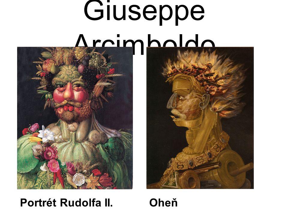Giuseppe Arcimboldo Portrét Rudolfa II. Oheň