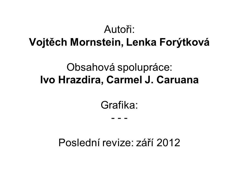Autoři: Vojtěch Mornstein, Lenka Forýtková Obsahová spolupráce: Ivo Hrazdira, Carmel J.