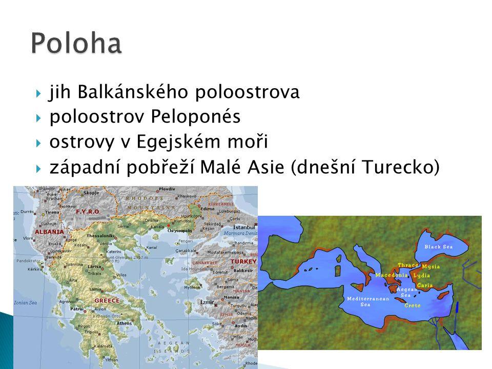 Poloha jih Balkánského poloostrova poloostrov Peloponés