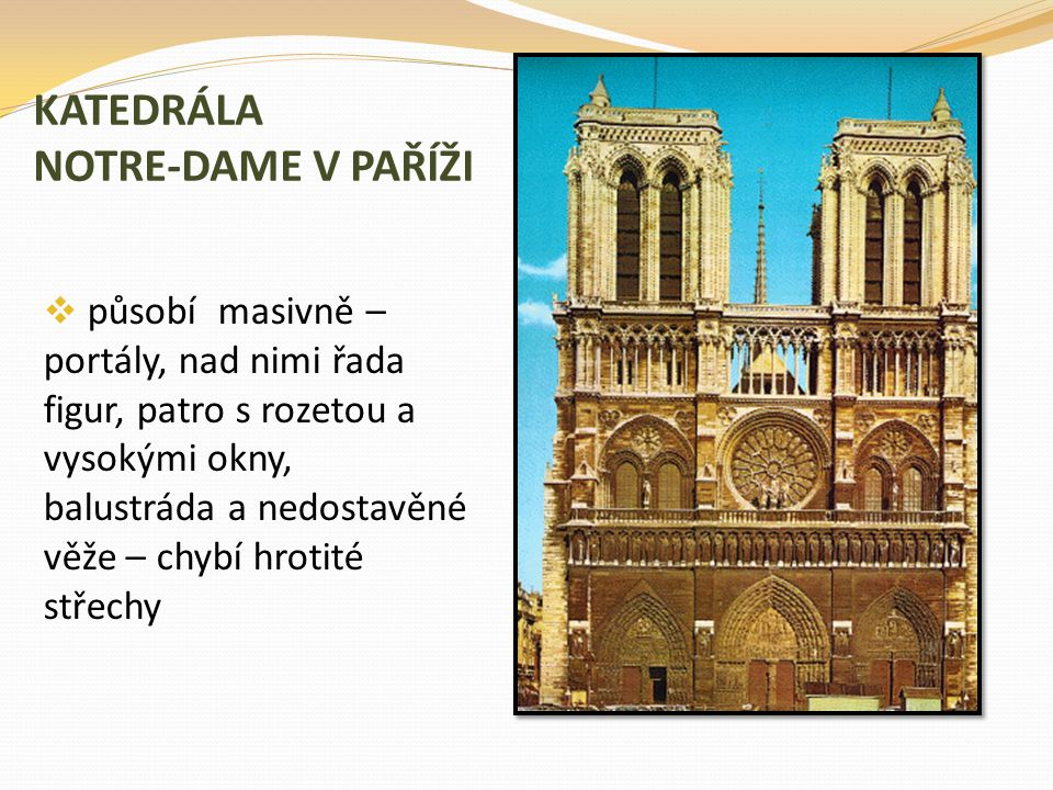 KATEDRÁLA NOTRE-DAME V PAŘÍŽI