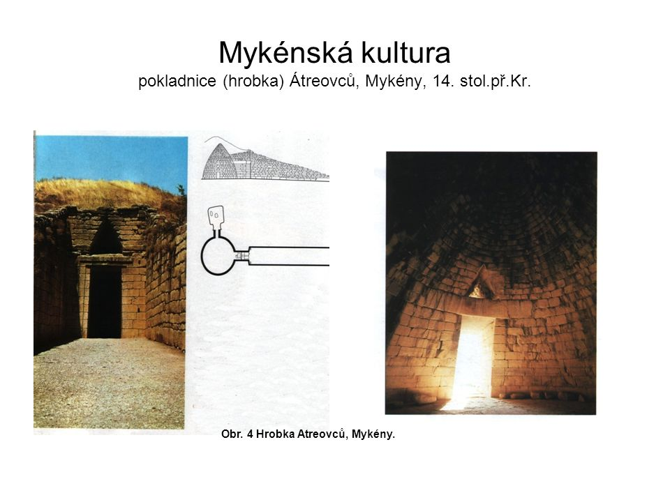 Mykénská kultura pokladnice (hrobka) Átreovců, Mykény, 14. stol.př.Kr.
