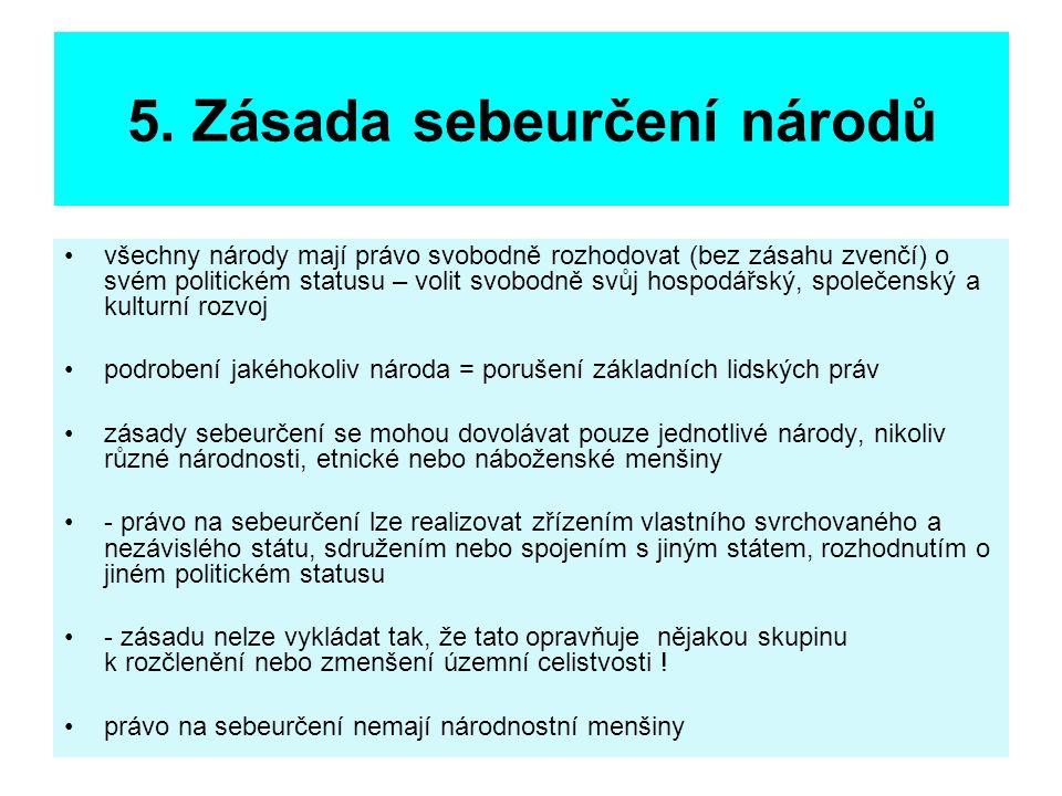 5. Zásada sebeurčení národů