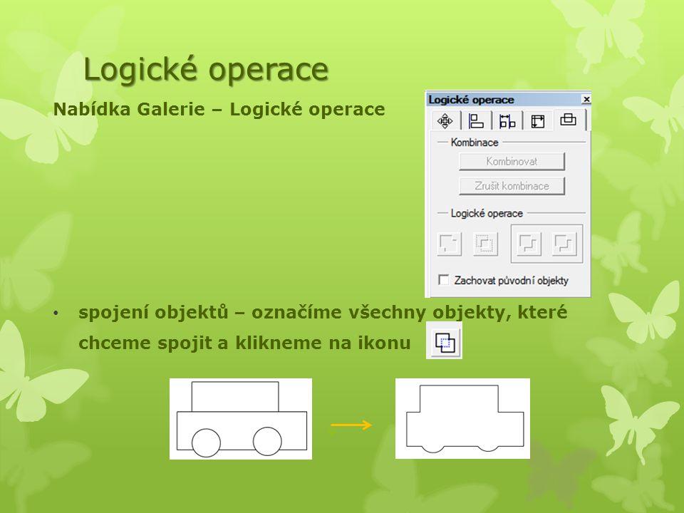 Logické operace Nabídka Galerie – Logické operace