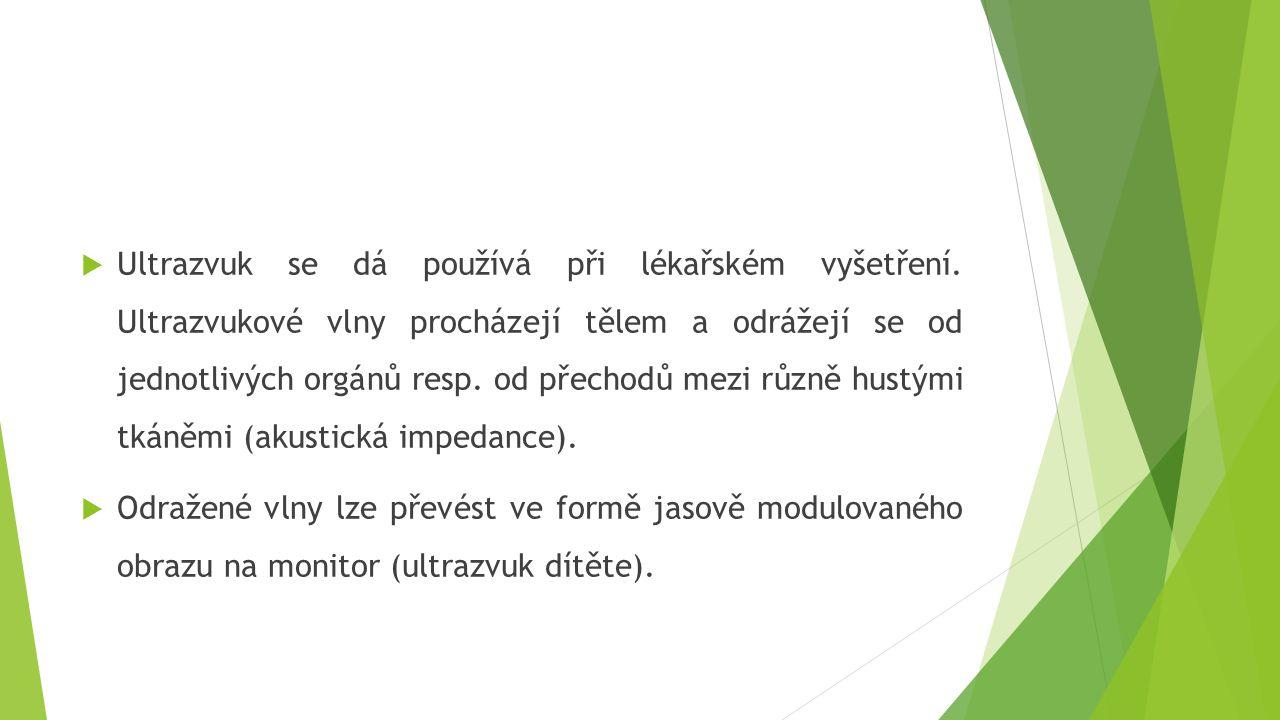 Ultrazvuk se dá používá při lékařském vyšetření