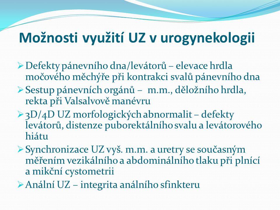 Možnosti využití UZ v urogynekologii