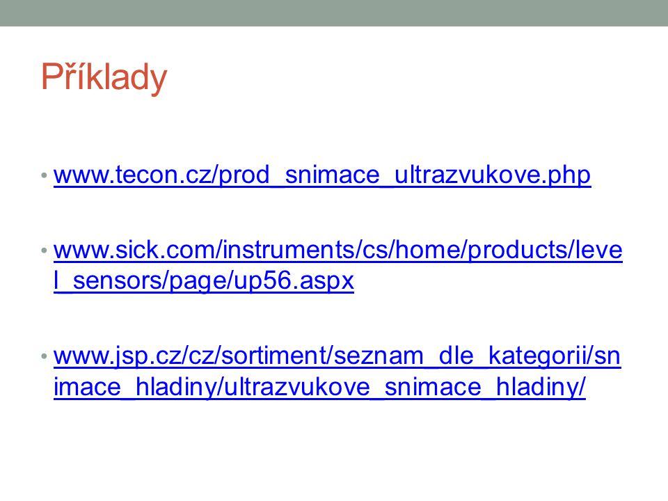 Příklady www.tecon.cz/prod_snimace_ultrazvukove.php