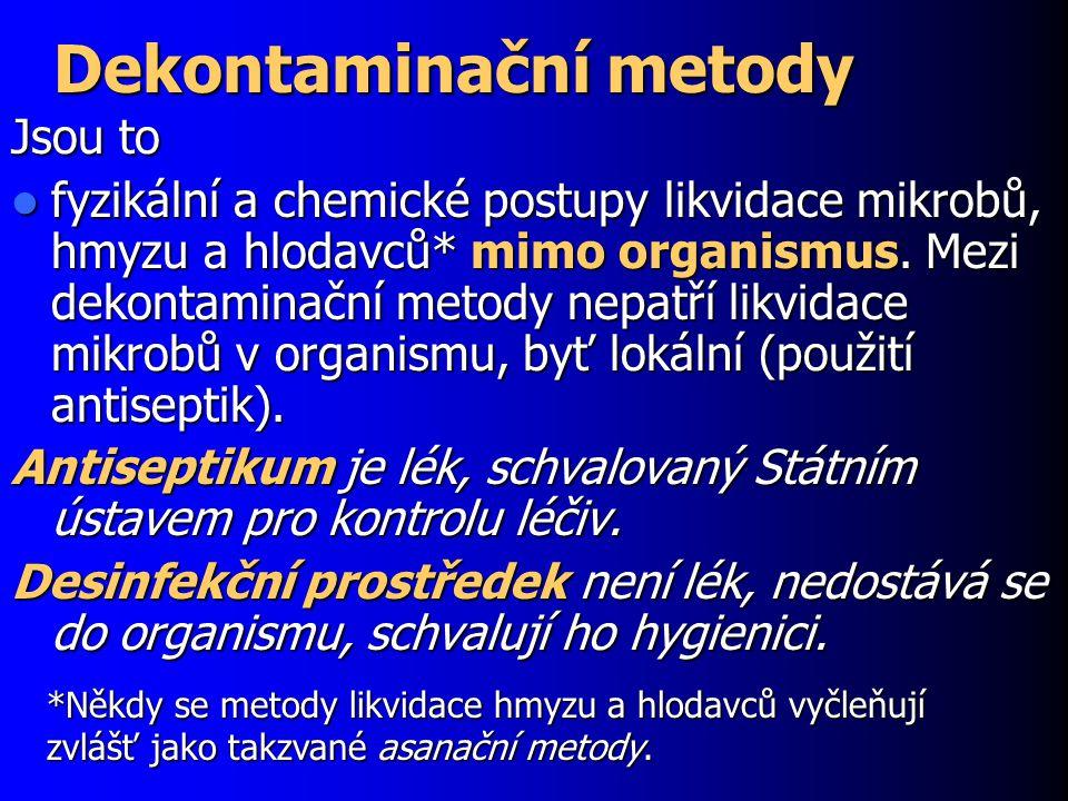 Dekontaminační metody