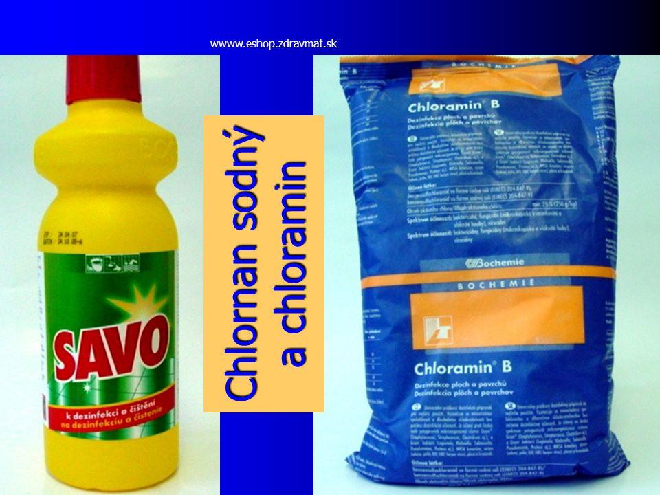 Chlornan sodný a chloramin