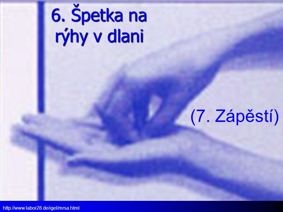6. Špetka na rýhy v dlani (7. Zápěstí)