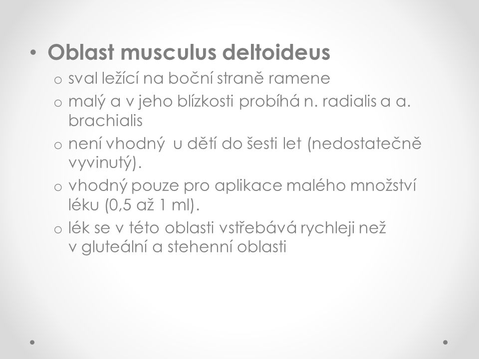 Oblast musculus deltoideus