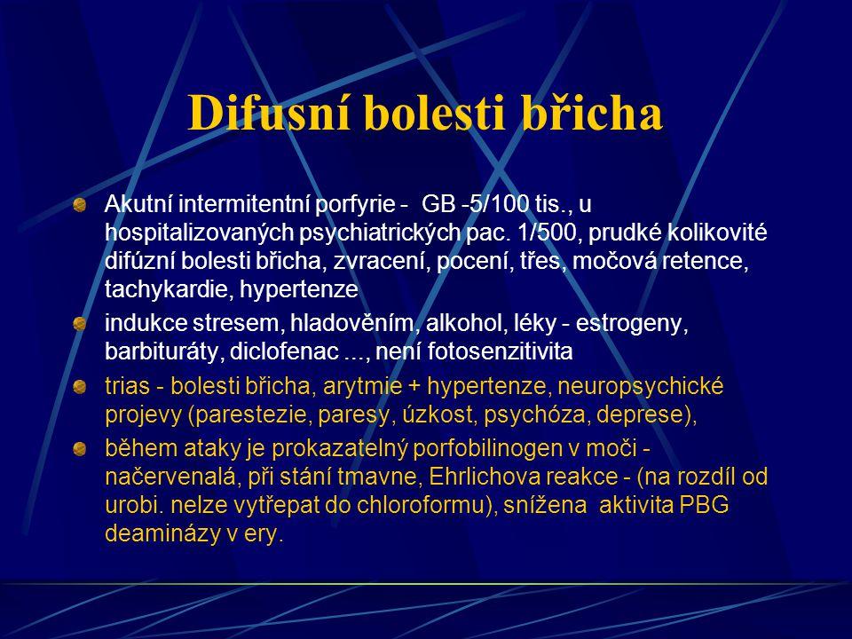 Difusní bolesti břicha