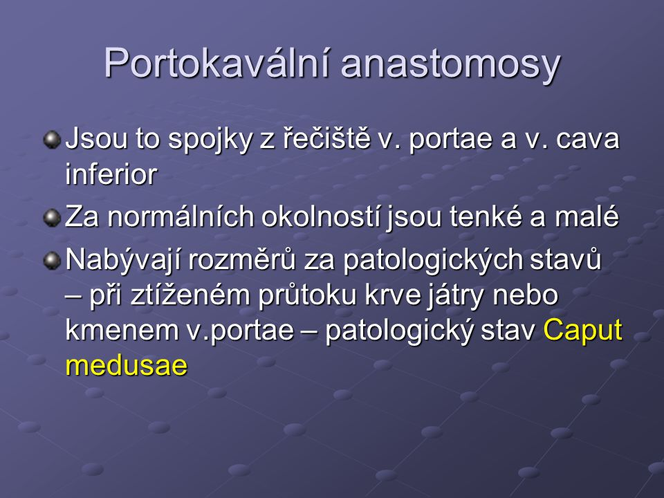 Portokavální anastomosy