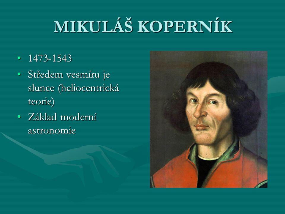 MIKULÁŠ KOPERNÍK 1473-1543.