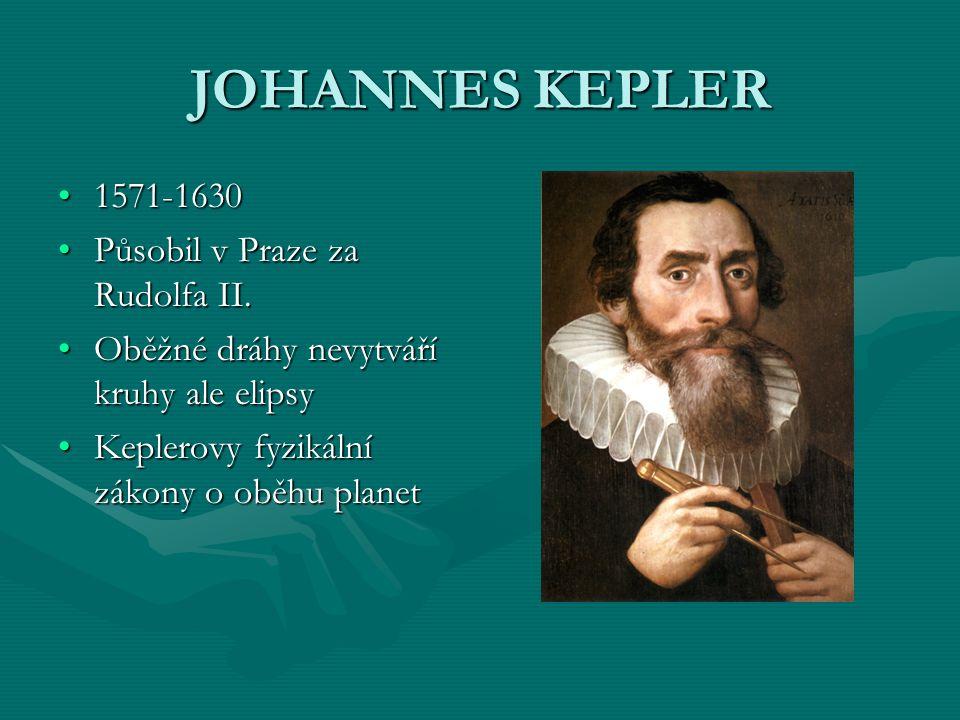 JOHANNES KEPLER 1571-1630 Působil v Praze za Rudolfa II.
