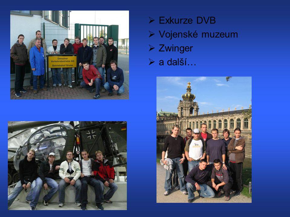 Exkurze DVB Vojenské muzeum Zwinger a další…