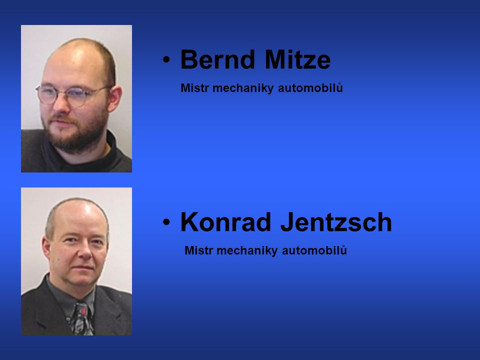 Bernd Mitze Konrad Jentzsch Mistr mechaniky automobilů