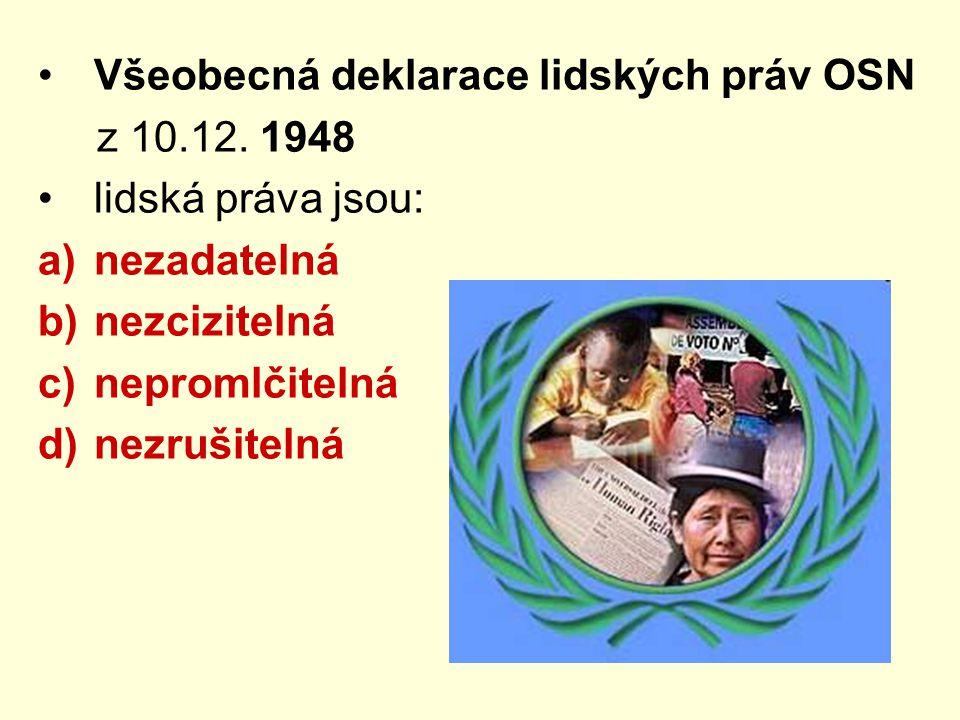 Všeobecná deklarace lidských práv OSN