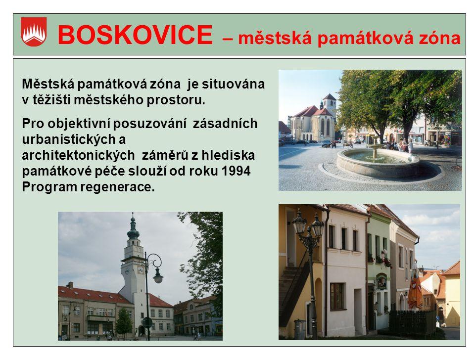 BOSKOVICE – městská památková zóna