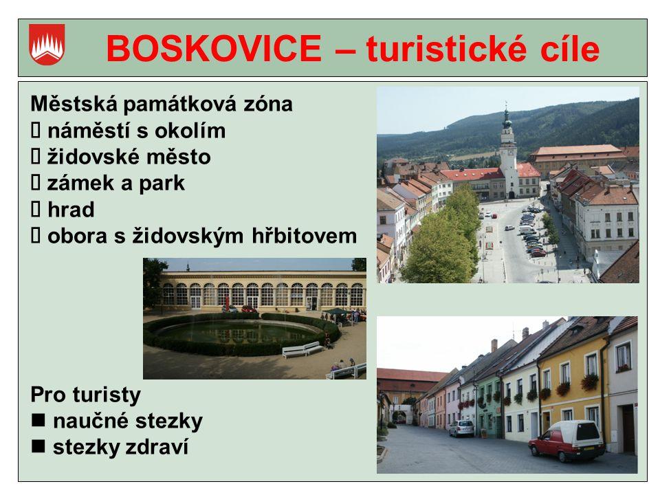 BOSKOVICE – turistické cíle