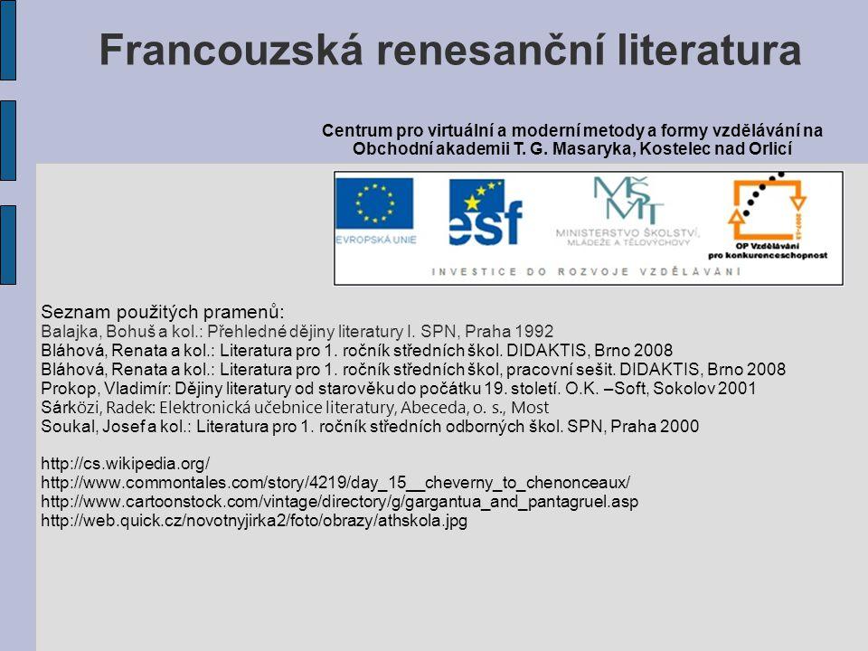 Francouzská renesanční literatura