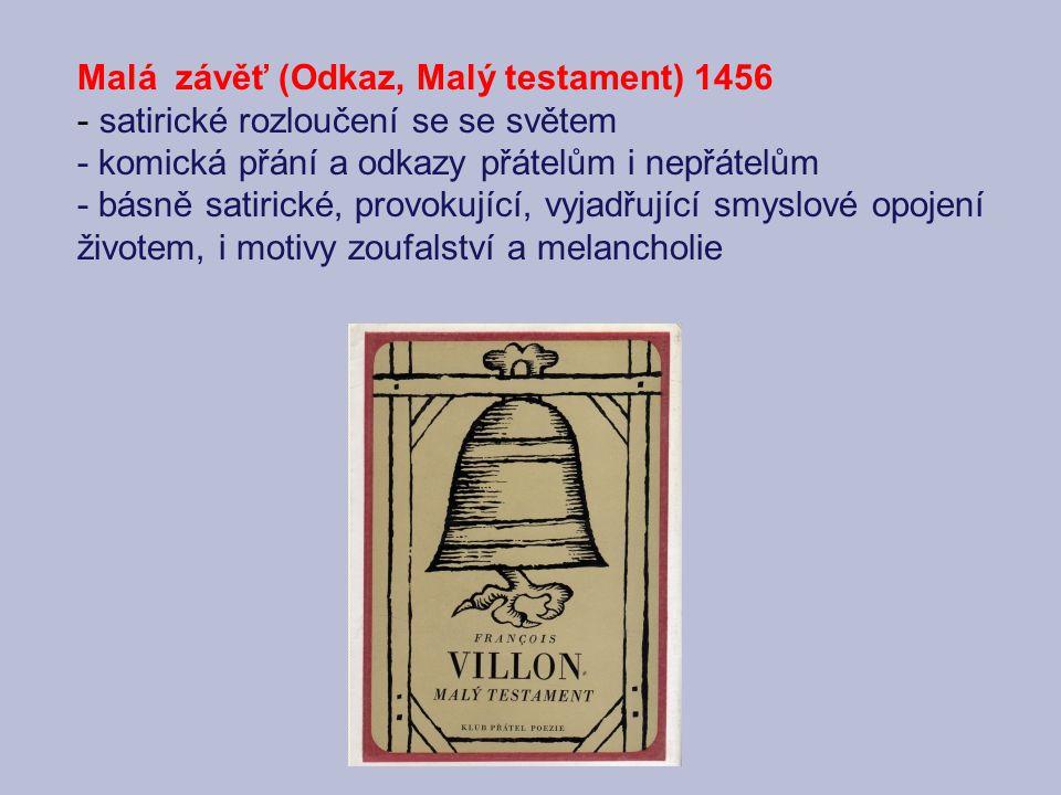 Malá závěť (Odkaz, Malý testament) 1456