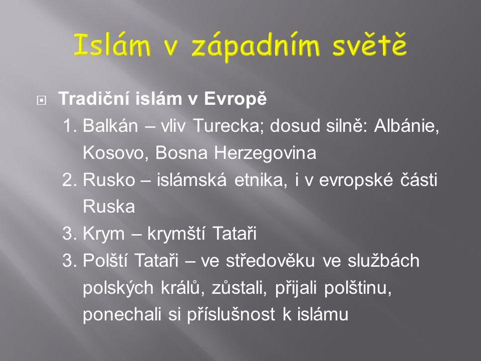 Islám v západním světě Tradiční islám v Evropě