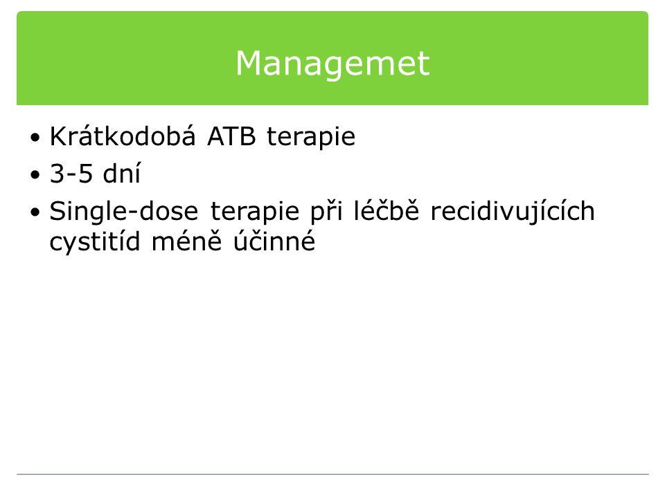 Managemet Krátkodobá ATB terapie 3-5 dní