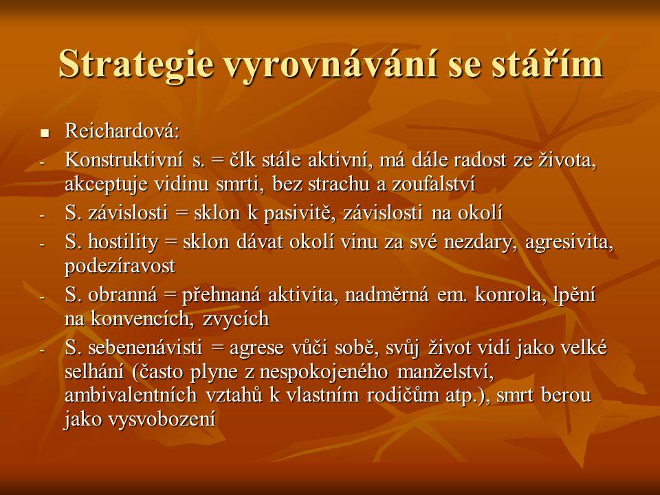 Strategie vyrovnávání se stářím