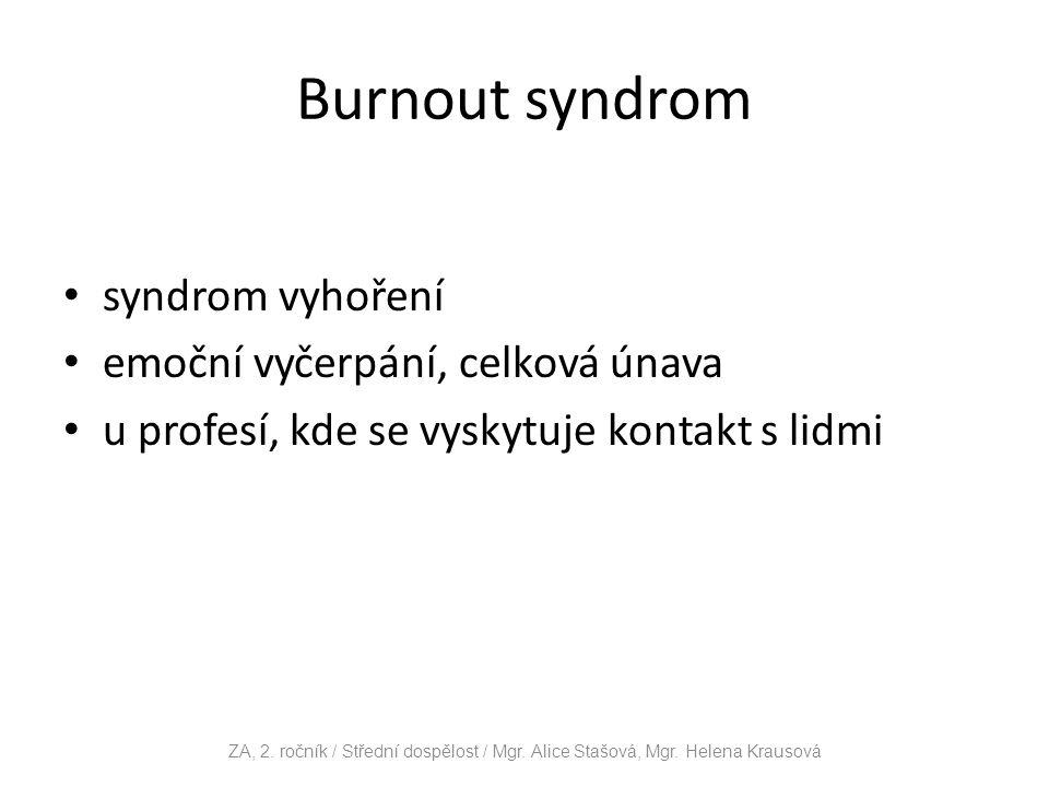 Burnout syndrom syndrom vyhoření emoční vyčerpání, celková únava