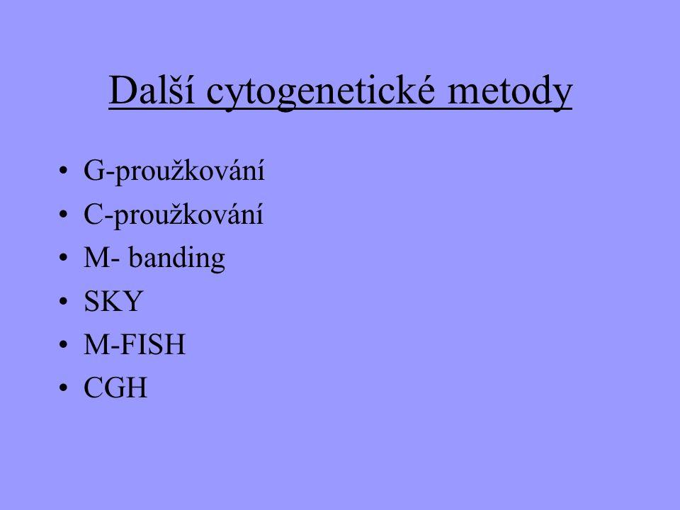 Další cytogenetické metody