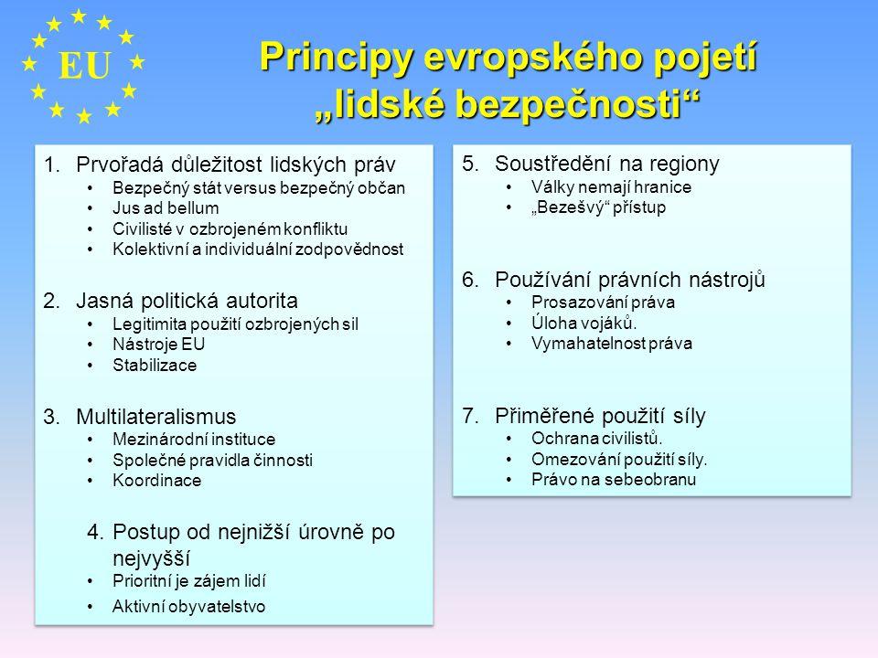 """Principy evropského pojetí """"lidské bezpečnosti"""