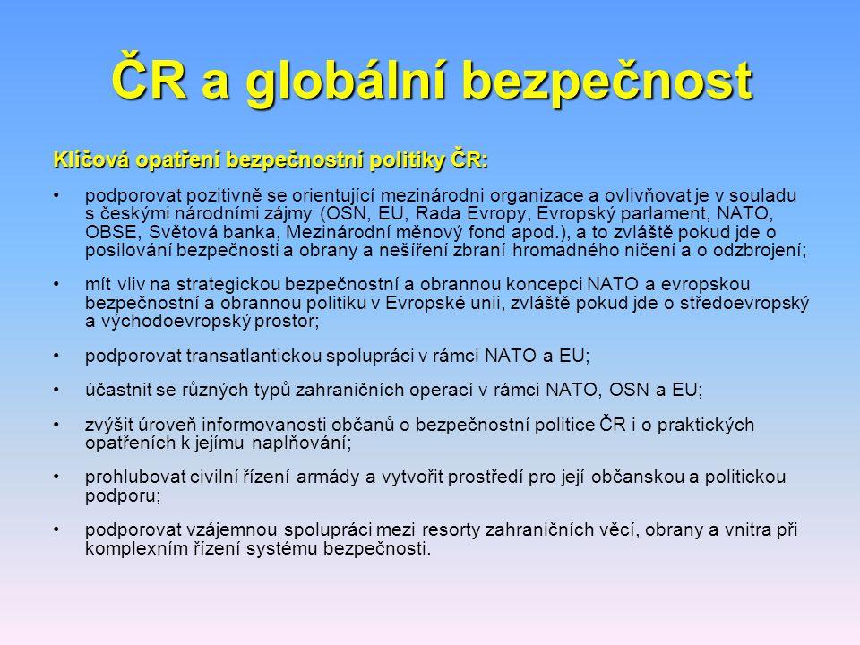 ČR a globální bezpečnost