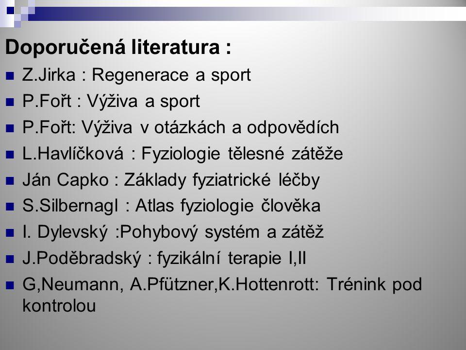 Doporučená literatura :