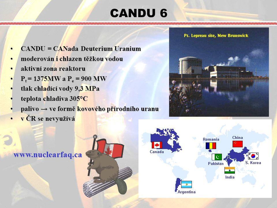 CANDU 6 www.nuclearfaq.ca CANDU = CANada Deuterium Uranium