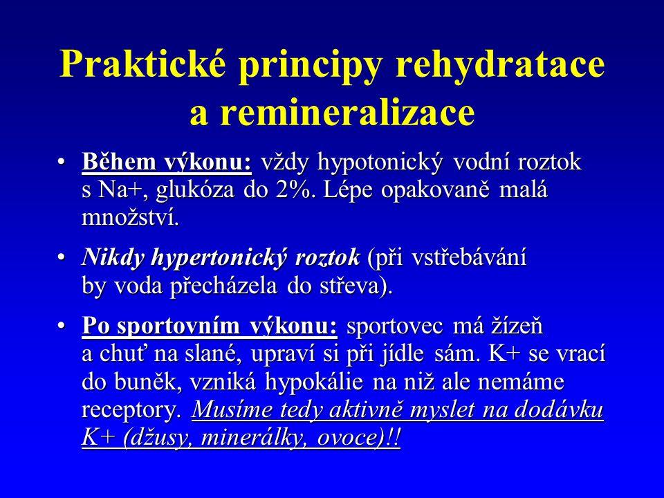 Praktické principy rehydratace a remineralizace