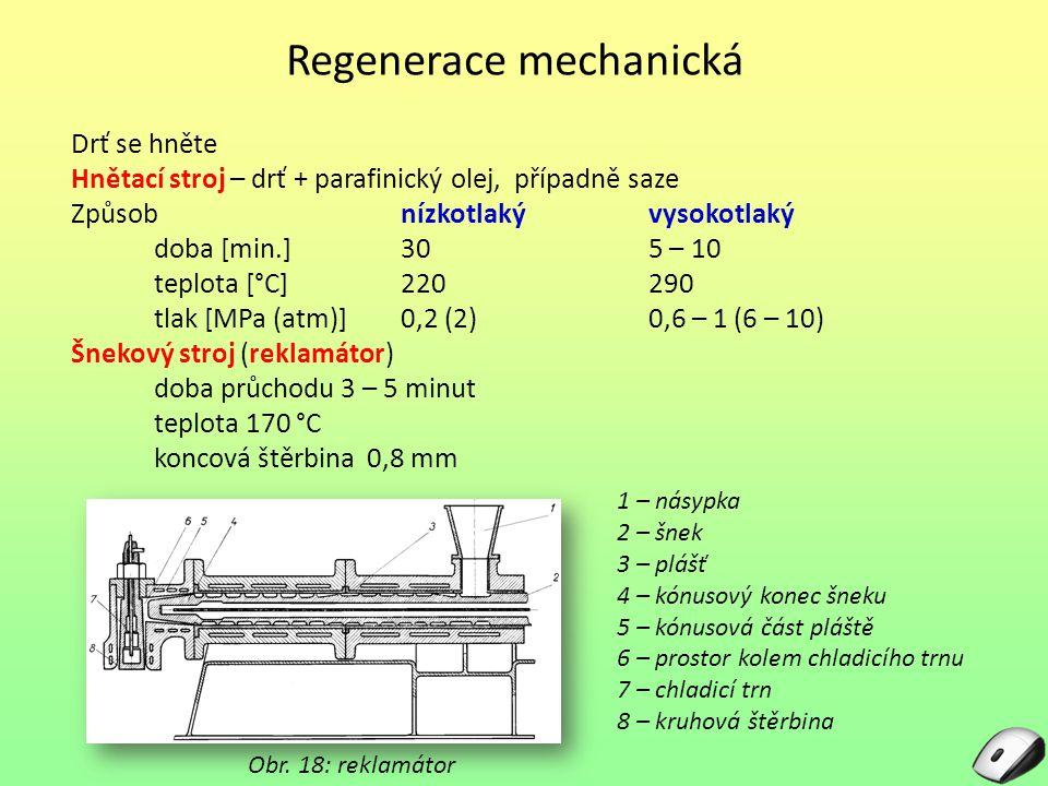 Regenerace mechanická