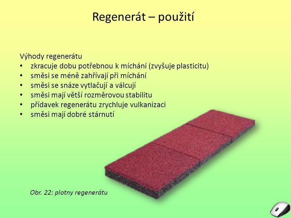 Obr. 22: plotny regenerátu