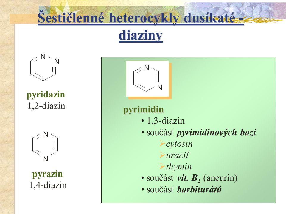 Šestičlenné heterocykly dusíkaté - diaziny